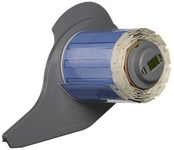 "Brady M71-94-175-342 BMP71 PermaSleeve Wire Marker Sleeves, 0.182"" Height, 1.765"" Width, Polyolefin (B-342) White (Roll of 100)"