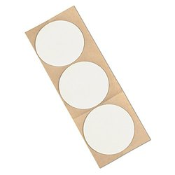 "TapeCase 3M 4462W White Adhesive Tapes, 31 mil (0.8 mm) Thick, 1.25"" Circles (Roll of 500)"