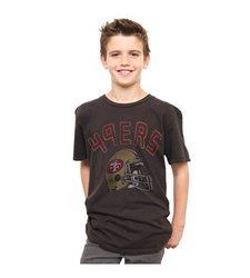 San Francisco 49ers Youth T-shirt - Black - Size: XL