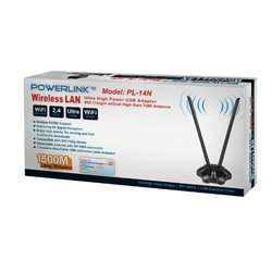 Power Link Wireless Lan High Power 802.11 b/g/n 7dbi Antenna #PL14N