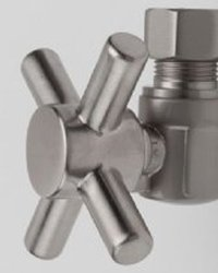 "Jaclo 621-4-PN 5/8"" OD x 3/8"" OD Angle Valve with Cross, Polished Nickel"