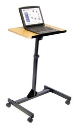 H. Wilson Adjustable Height Lectern gray/black