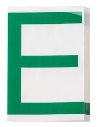 "Brady 121718 ToughStripe Die-Cut Polyester Tape, Green Letter ""E""(Pack of 20)"