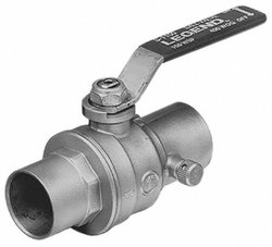 1/2 in. Brass Sweat C x C Ball Valve with Drain No Lead