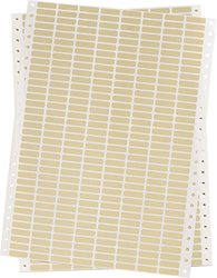 """Brady DAT-50-652-10 0.900"""" Width x 0.250"""" Height, B-652 High Temperature Amber Polyimide, Amber Datab Dot Matrix Printable Label (Pack of 10000)"""