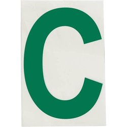 "Brady 121706, ToughStripe Die-Cut Numbers and Letters, 4"" x 8"" GREEN (Pack of 10 pcs)"