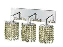 Elegant Lighting 1283W-O-E-LP/RC Mini 8-Inch High 3-Light Wall Sconce, Chrome Finish with Light Peridot (Light Green) Royal Cut RC Crystal