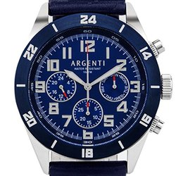 Argenti Damar Men's Multi-function Watch: Agt-15115_c/blue Band-blue Dial