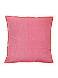 Gitika Goyal Home Khadi 20-Quilted Cushion Sham, Lines Design, Pink