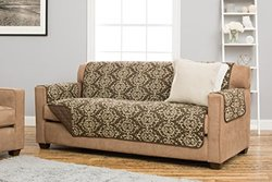Printed Furniture Cover: Kingston Collection-chocolate/sofa