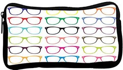 Rikki Knight Colorful Hipster Glasses Neoprene Pencil Case (dky-Neo-pc44275)
