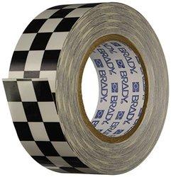 "Brady 121913 Aisle Marking Tape, 2"" Width, 100' Length, Black/White"