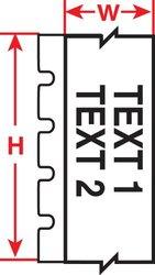 """Brady M71C-1500-472-YL 1.50"""" x 50', B-472 Flame Retardant Wire Wraps (1 Roll)"""
