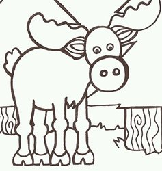 """12"""" x 12"""" Moose Painting Kit"""