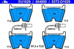 ATE Original Disc Brake Pad Set (EU1029)