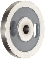 """Boston Gear G1207 Webbed Grooved Pulley, 0.625"""" Bore, Fits Round Belts 0.375"""" or Smaller, 0.500"""" Face, 1.625"""" Hub Diameter, 5.000"""" Outside Diameter, Iron"""