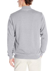 Greg Norman Men's Lined Cotton Wind Sweater - G Heather - Size: Small