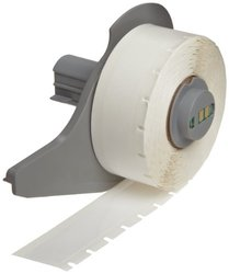"""Brady M71C-625-422 0.625"""" Width x 50' Height White Color B-422 Permanent Polyester Labels For BMP71 Label Printer"""