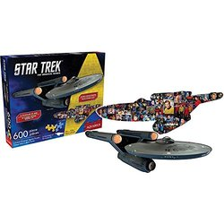 Puzzle - Star Trek - Ship and Collage New Licensed Gift Toys 75008 600