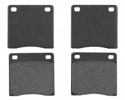 ACDelco 17D104 Professional Organic Front Disc Brake Pad Set