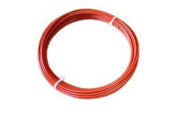 Loos Vinyl Coated & Stainless Steel Wire Rope - Orange - Size: 3/32""