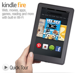 """Amazon Kindle FIRE 7"""" 8GB Android Tablet 1st Generation"""