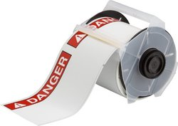 Brady 133165 ToughWash Danger Labels for the Globalmark (100 Labels per Roll)