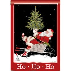 BreezeArt Ho Ho Ho Santa House Flag - 2 Sided Message (99235)