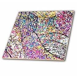 3dRose 8-Inch Psychedelic Ceramic Tile (ct_21549_30