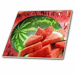 3dRose 6-Inch Watermelon-Ceramic Decorative Tile