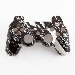 Gamermodz White Marble Hydro-Dipped Custom Controller Shell for PS3