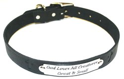 "Auburn Leather 1"" x 24"" Pet Ark Survivor Series Collar - Black"