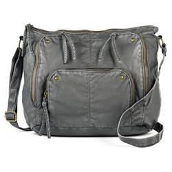 Mossimo Women's Faux Leather Hobo Handbag - Grey