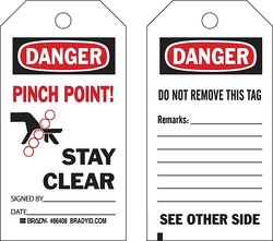 Brady Heavy Duty Polyester Accident Prevention Tags - White - 10 Tags