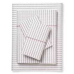 Brooklyn & Bond 200TC Poplar Dot Sheet Set - White/Navy - Size: Full