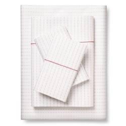 Brooklyn & Bond 200TC Poplar Dot Sheet Set - White/Grey - Size: Full