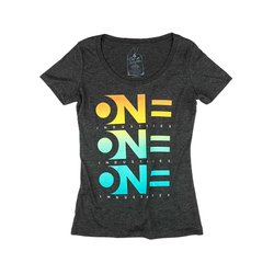 One Industries Women's Decline Tee - Heather Charcoal -Size: X-Large