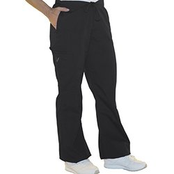 Women's Flare Leg Scrub Pants - Black - Size: X-Small