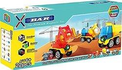 ClickBlock X-Bar 22 Piece Construction Magnetic Vehicle Set