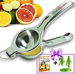 Chefwonders Lemon Squeezer and Citrus Sprayer Set - Silver