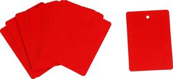 """Brady 1/2"""" x 2-1/2"""" Red Color-Code Plastic-Tags - 25 Tags"""