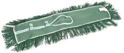 """Wilen 24"""" x 5"""" Permatwist Polyester Back Dust Mop - Green - Case of 12"""