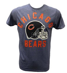 NFL Men's Chicago Bears Bold Helmet T-Shirt - Blue - Size: Medium