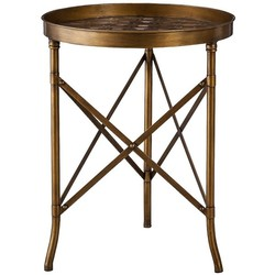 Threshold Stamped Metal Accent Table - Gold