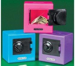 Plastic Neon Vault Safe Bank - Assorted colors