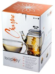 Teaposy Teapot + Tea Cup Charme Gift Set with Blooming Teas