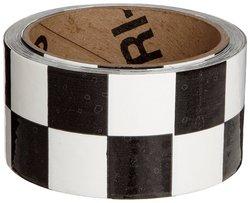 Brady B-950 Vinyl Black & White Color Warning Stripe & Check Tape