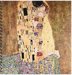 "3dRose 8"" x 8"" Famous Klimt Painting The Kiss-Drawing Book"