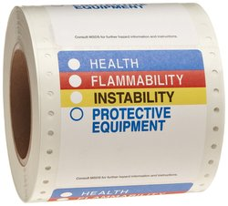 """Brady 3-7/8"""" Width x 3-7/8"""" Height Paper Multicolored HMIG Pin-Feed Label"""