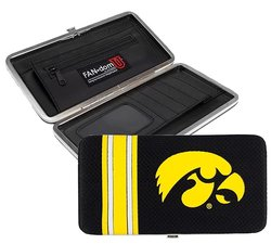 Littlearth NCAA Iowa Hawkeyes Shell Mesh Wallet - Black/Yellow